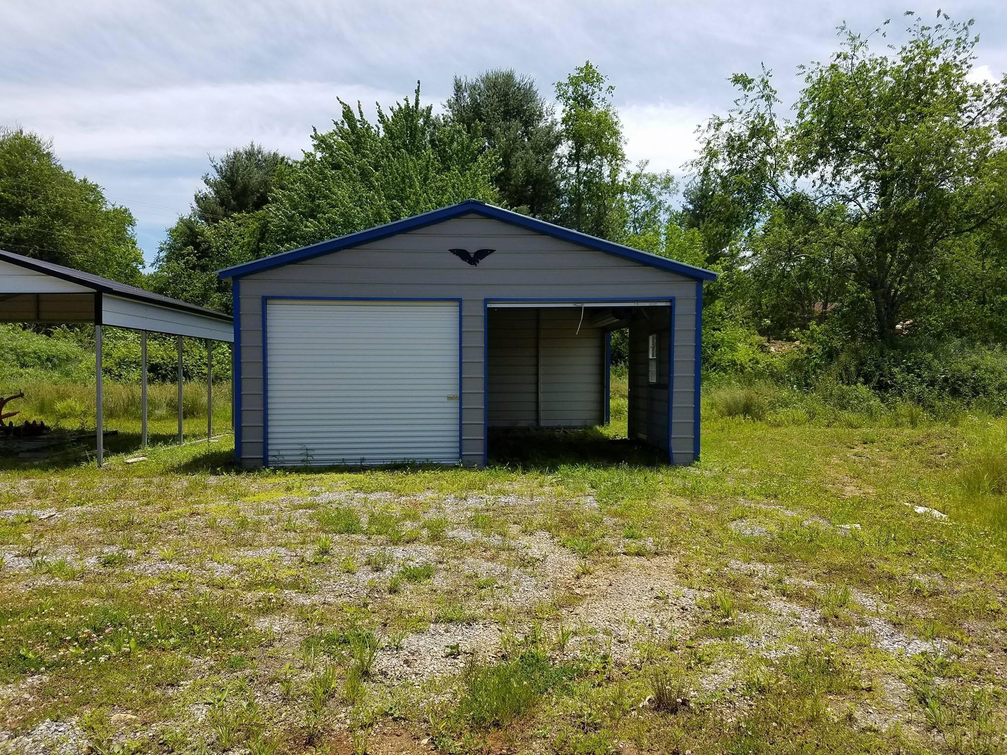 Enclosed Garage - double door